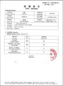 Certificat per A193 B8M CL2