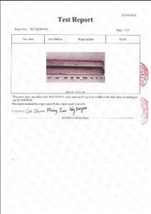 Certificat d'A453 660B 3
