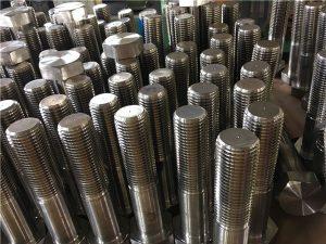N º 12 de cargol hexagonal ISO4014 mitja rosca A193 B8, B8M, B8T, B8C SS de fixació