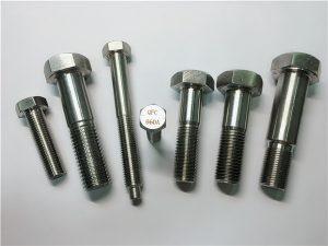 Núm.25-Incoloy a286 cargols hexagonal 1.4980 fixadors a286 gh2132 acer inoxidable ferreteria per a màquines de cargol