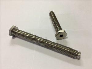Fixador de titani forat núm. 64 amb forat de pas de llavi de titó 6Al4V de llavi de cap de plat