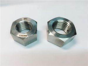 N º 76 Dúplex 2205 F53 1.4410 S32750 fixadors d'acer inoxidable femella gruixuda