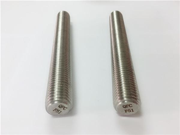 Fixacions d acer inoxidable duplex2205 / s32205 din975 / din976 barres roscades f51