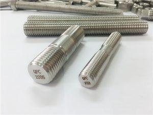 No.80-duplex 2205 S32205 2507 S32750 1.4410 fixació de maquinari d'alta qualitat d'ancoratge de vareta de fusta