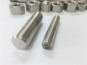 N º 81-F55 Zeron100 Fixacions d'acer inoxidable vareta roscada completa S32760