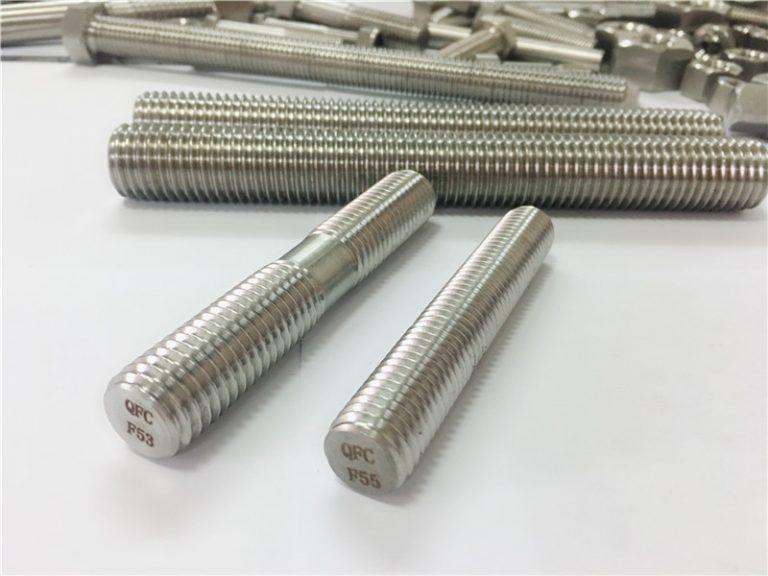 Fixacions automàtiques d'acer inoxidable mecanitzades automàticament de doble extremitat