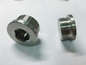 Anell de cargol d'acer inoxidable personalitzat amb anell de clau